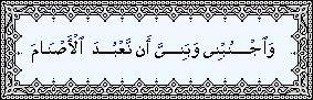La peur du Shirk  Verset_35_14